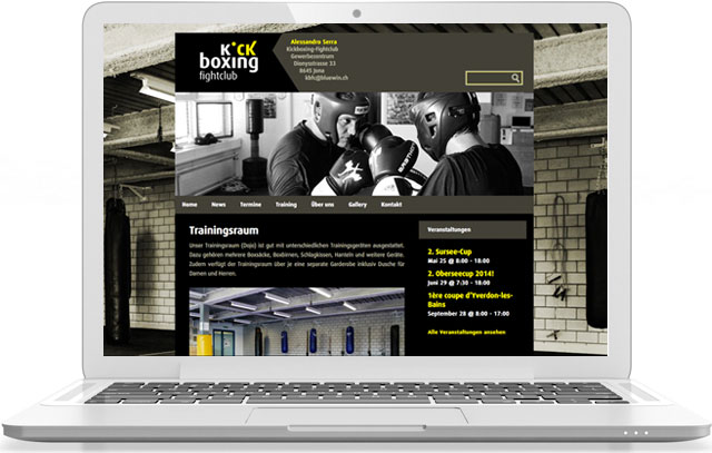 webseite Kickboxing-Fightclub