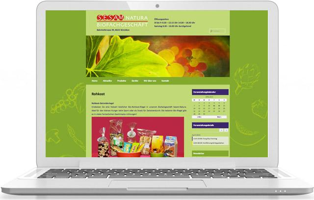 Webseite von Sesam-Natura