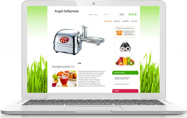 Webseite für angel-saftpresse.ch