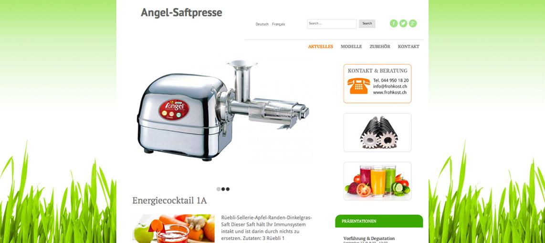 Webseite für angel-saftpresse