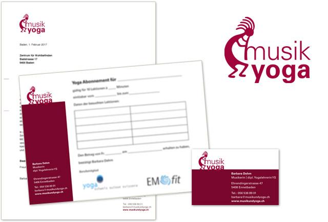 Logo für musik und yoga