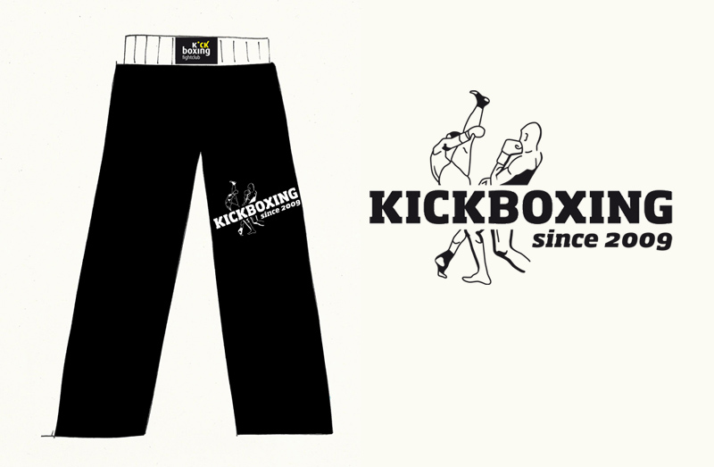 Illustration für Kickboxhosen