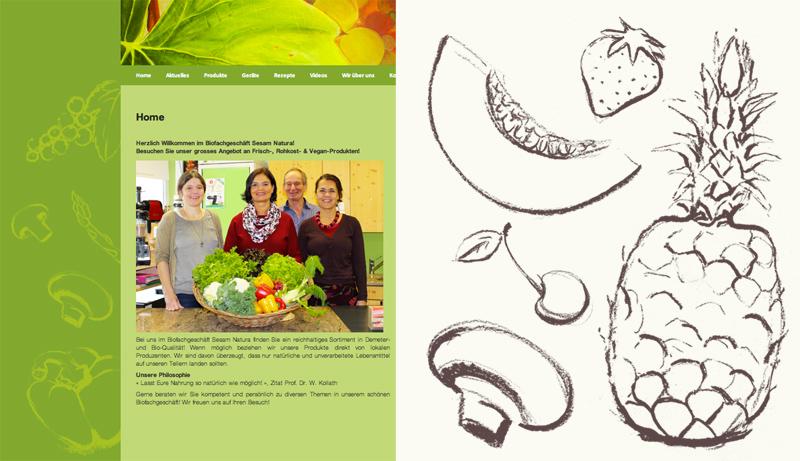 Illustration für Hintergrund Webseite