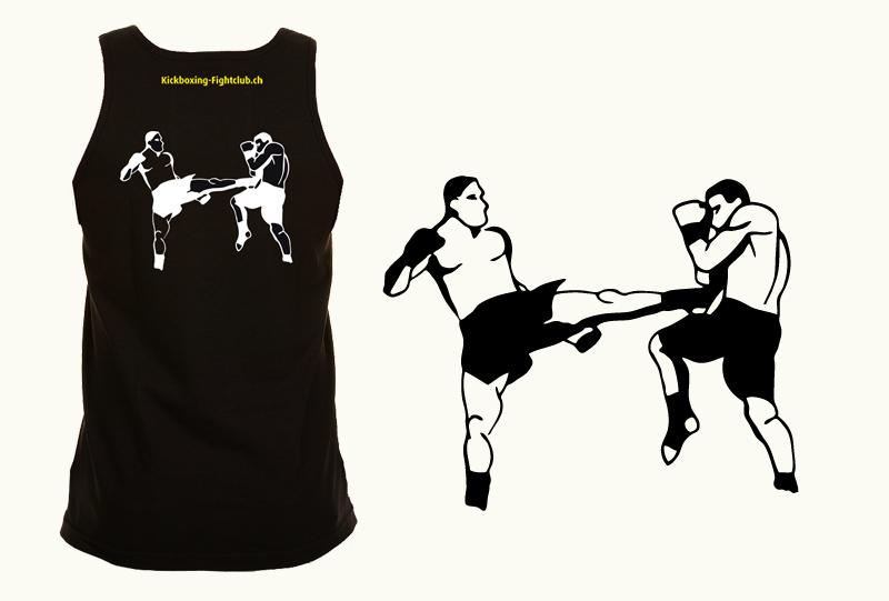 Illustration für Kickboxshirt